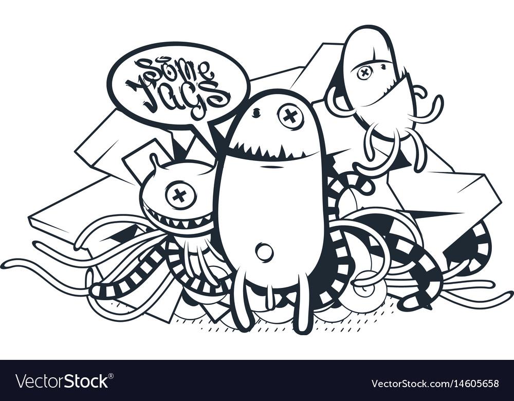 Graffiti doodle art Royalty Free Vector Image - VectorStock