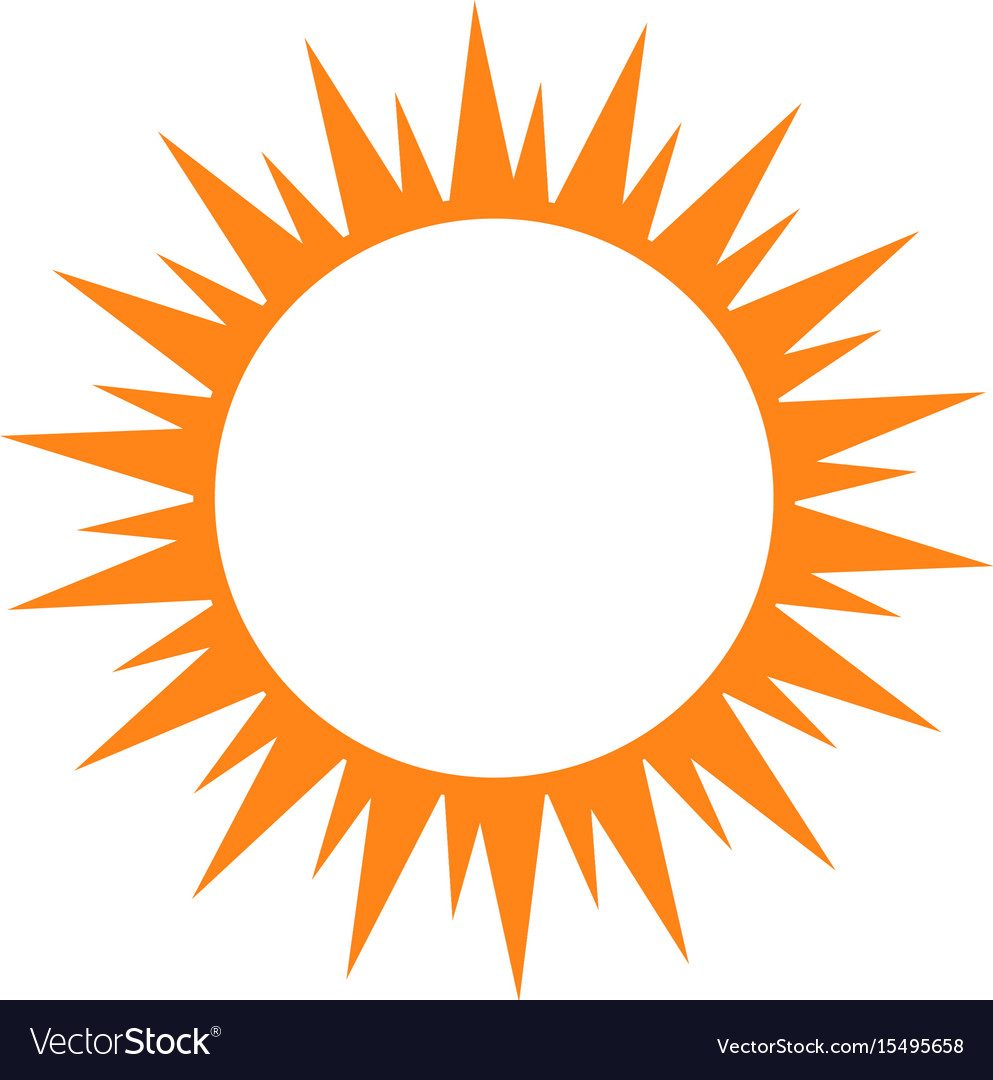 isolated sun silhouette royalty free vector image