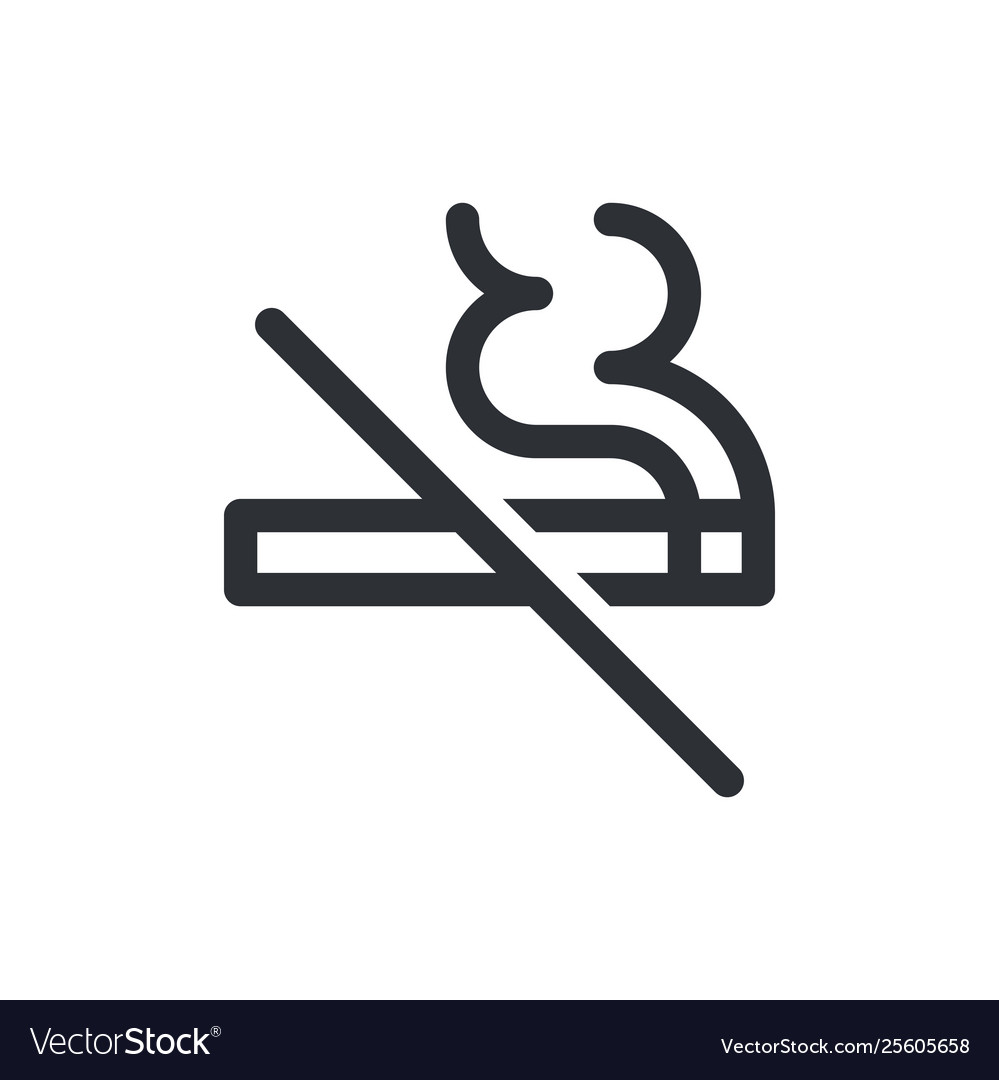 No smoking icon cigarette smoke forbidden kein