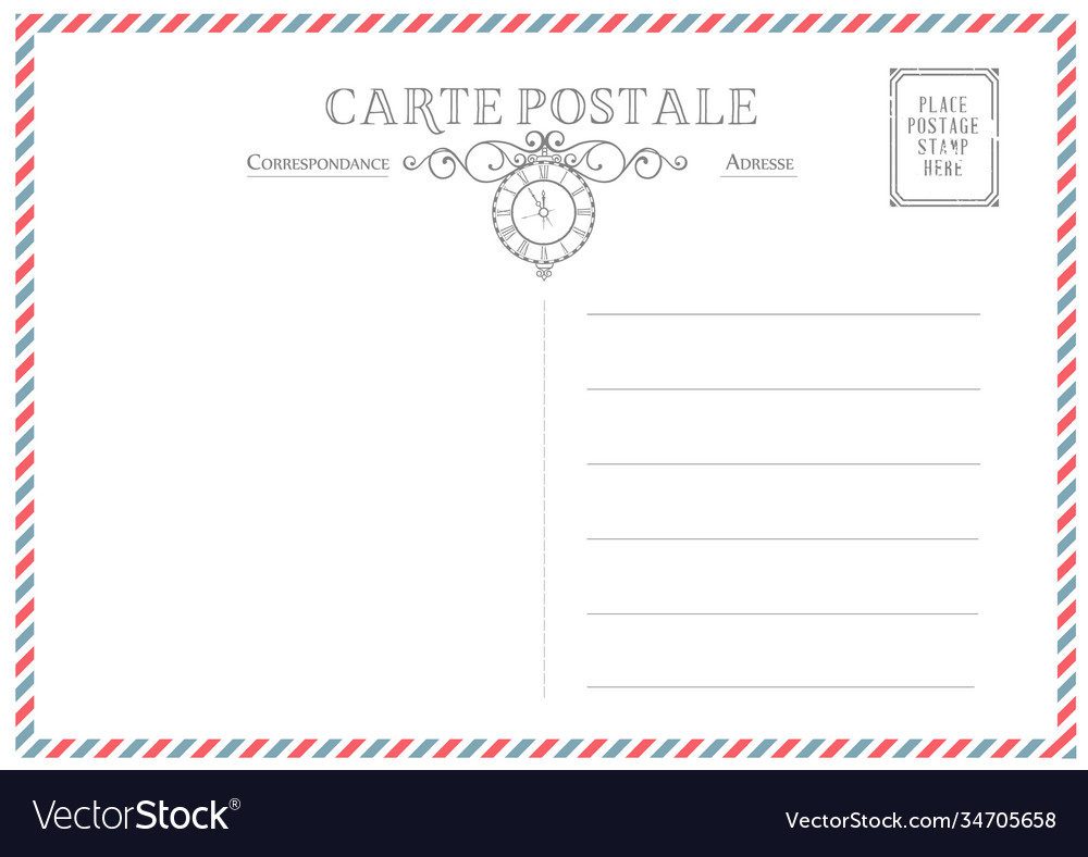 Vintage post card template