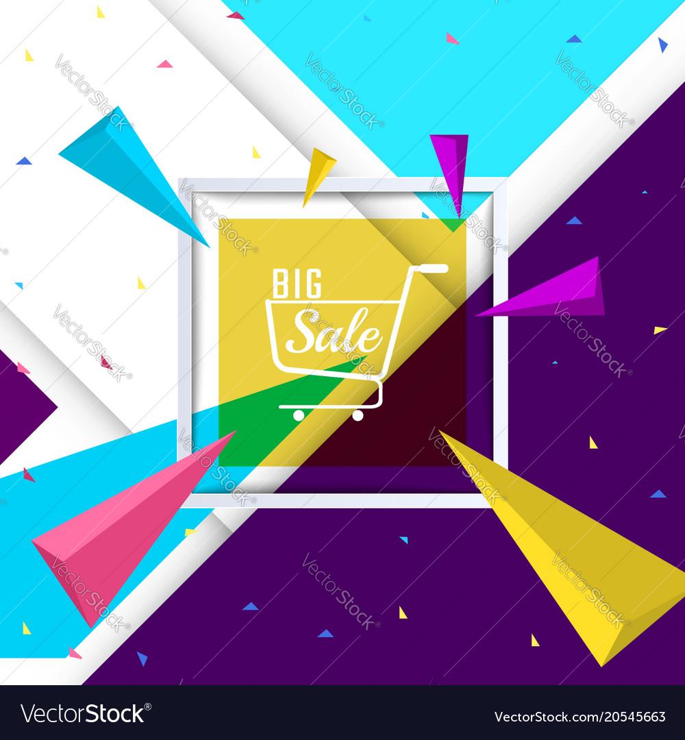 Big sale paper banner template design vector image