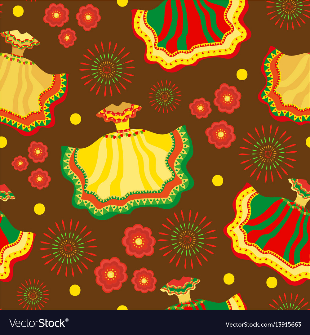 Cinco de mayo seamless pattern mexican holiday