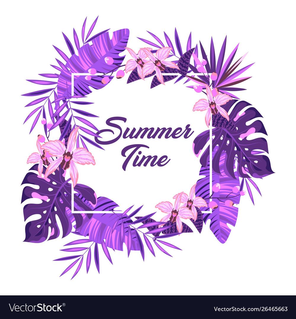 Floral frame summer time