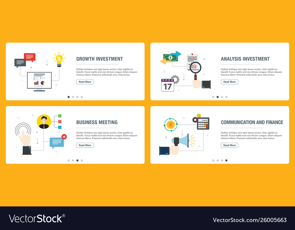Internet banner set investment business and