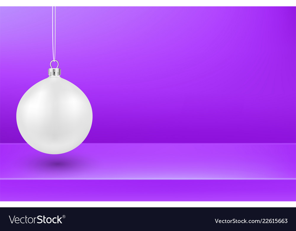 purple christmas and new year background with vector image
