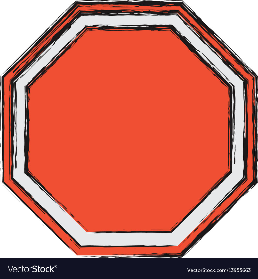 Stop sign empty blank
