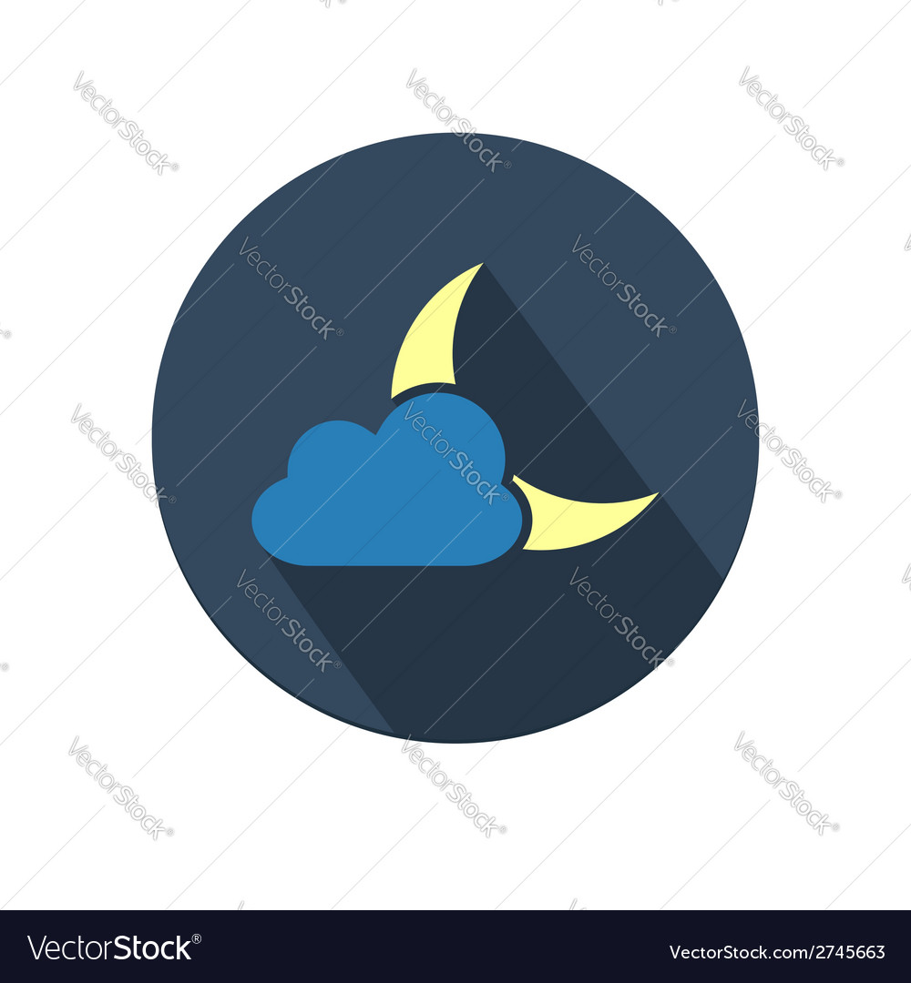 Weather icon with moon and cloud