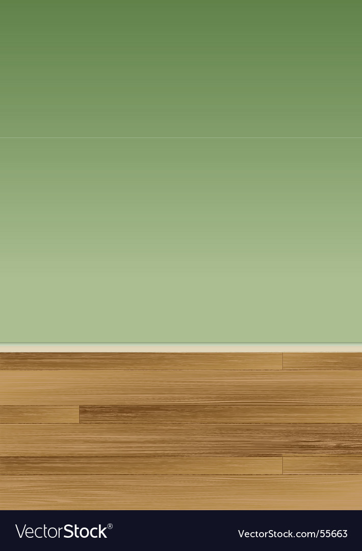 Wood floor wall vector
