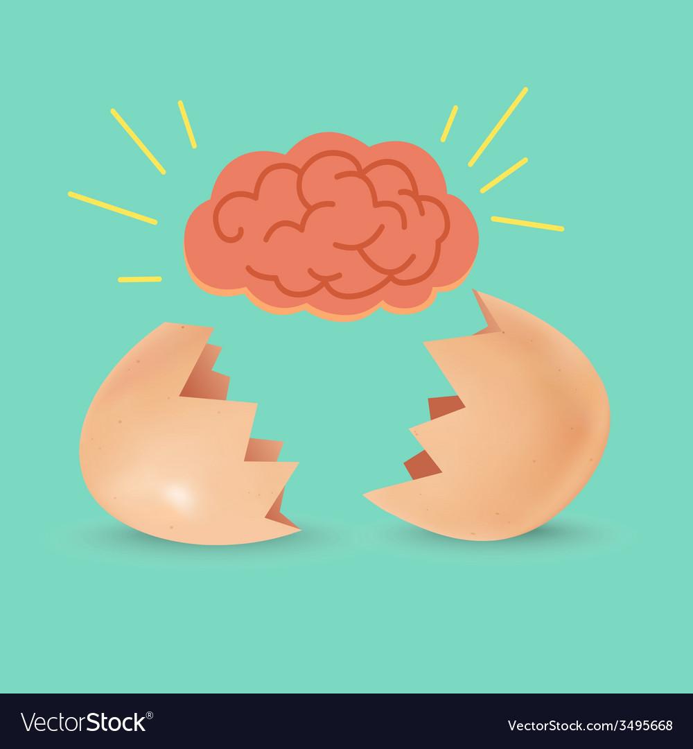 Brain Born Egg vector image