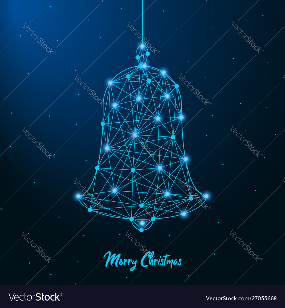 Merry christmas and new year design with low poly