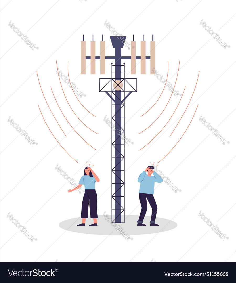 People in danger 5g tower radiation wave