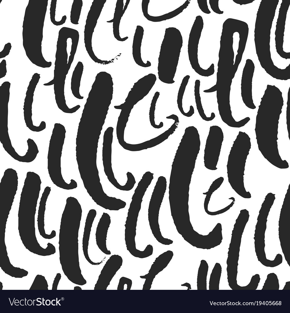 Seamless Pattern With Calligraphy Letters L Vector Image