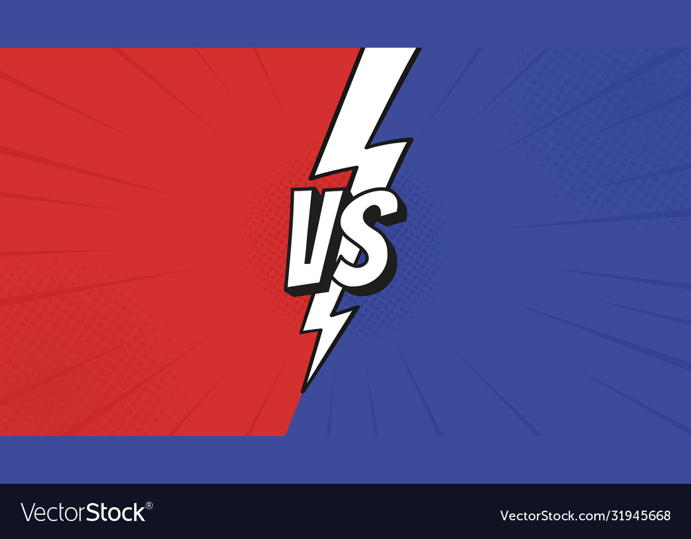 Versus Vs Sign With Lightning Bolt Isolated On Vector Image