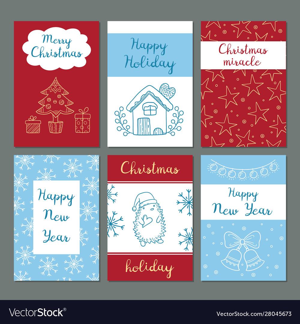 Christmas cards winter celebration greetings