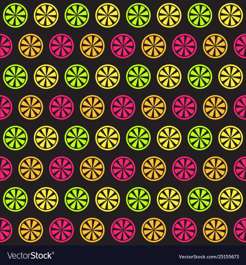 Citrus pattern seamless background
