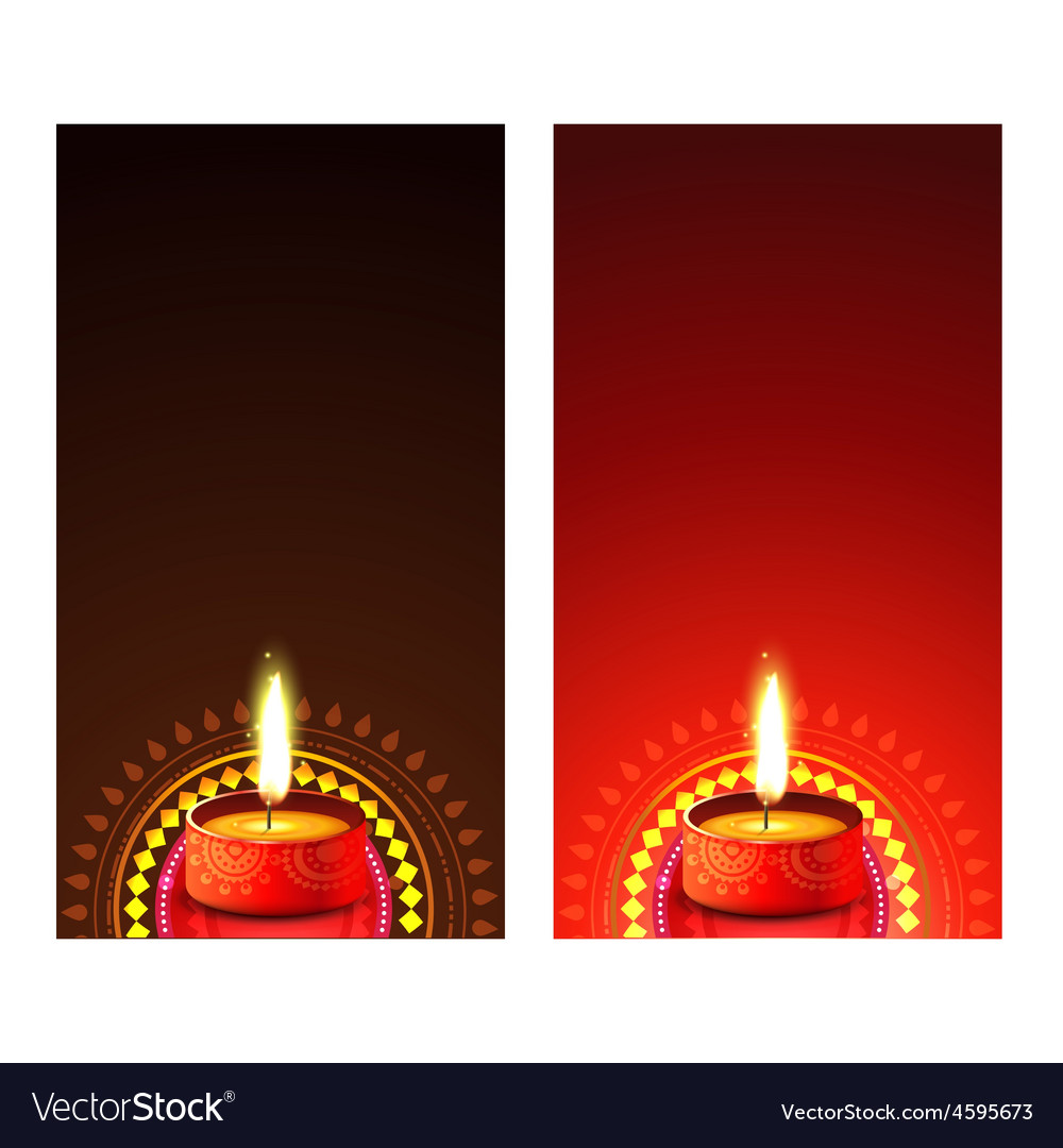 Diwali banner vector image