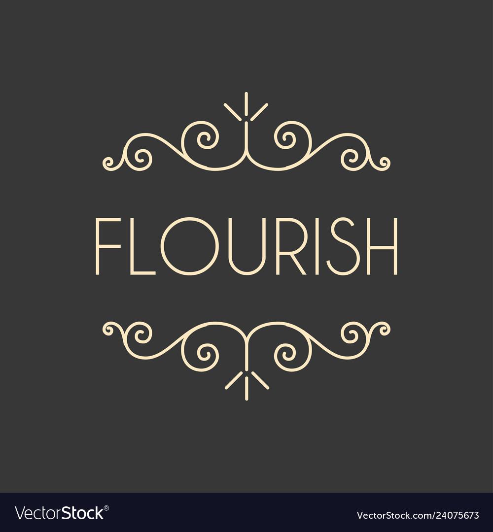 Flourish swirls vintage
