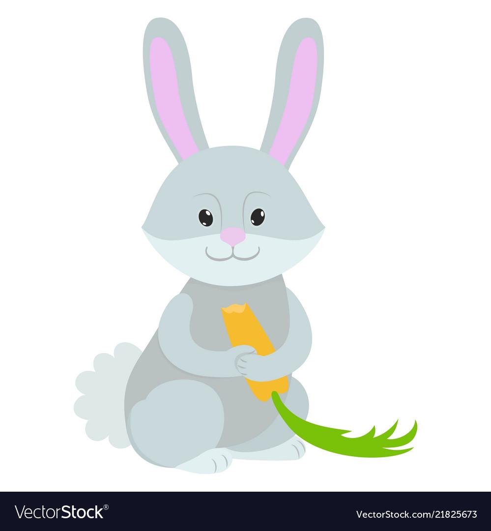 Hand drawn rabbit natural colors