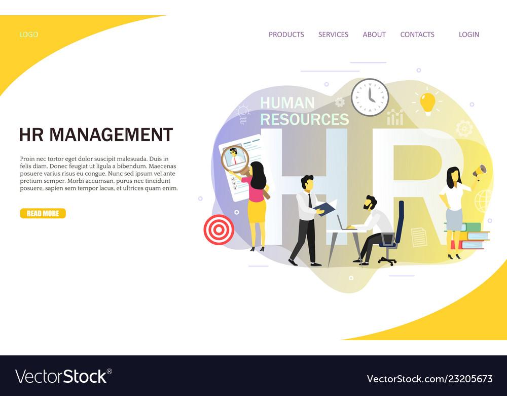 Hr management landing page website template