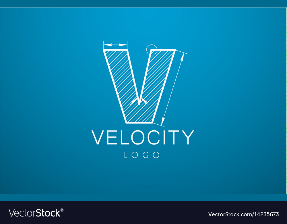 Logo template letter v in the style of a vector image
