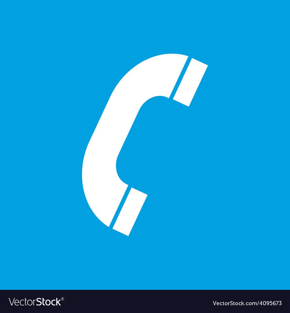 Phone white icon