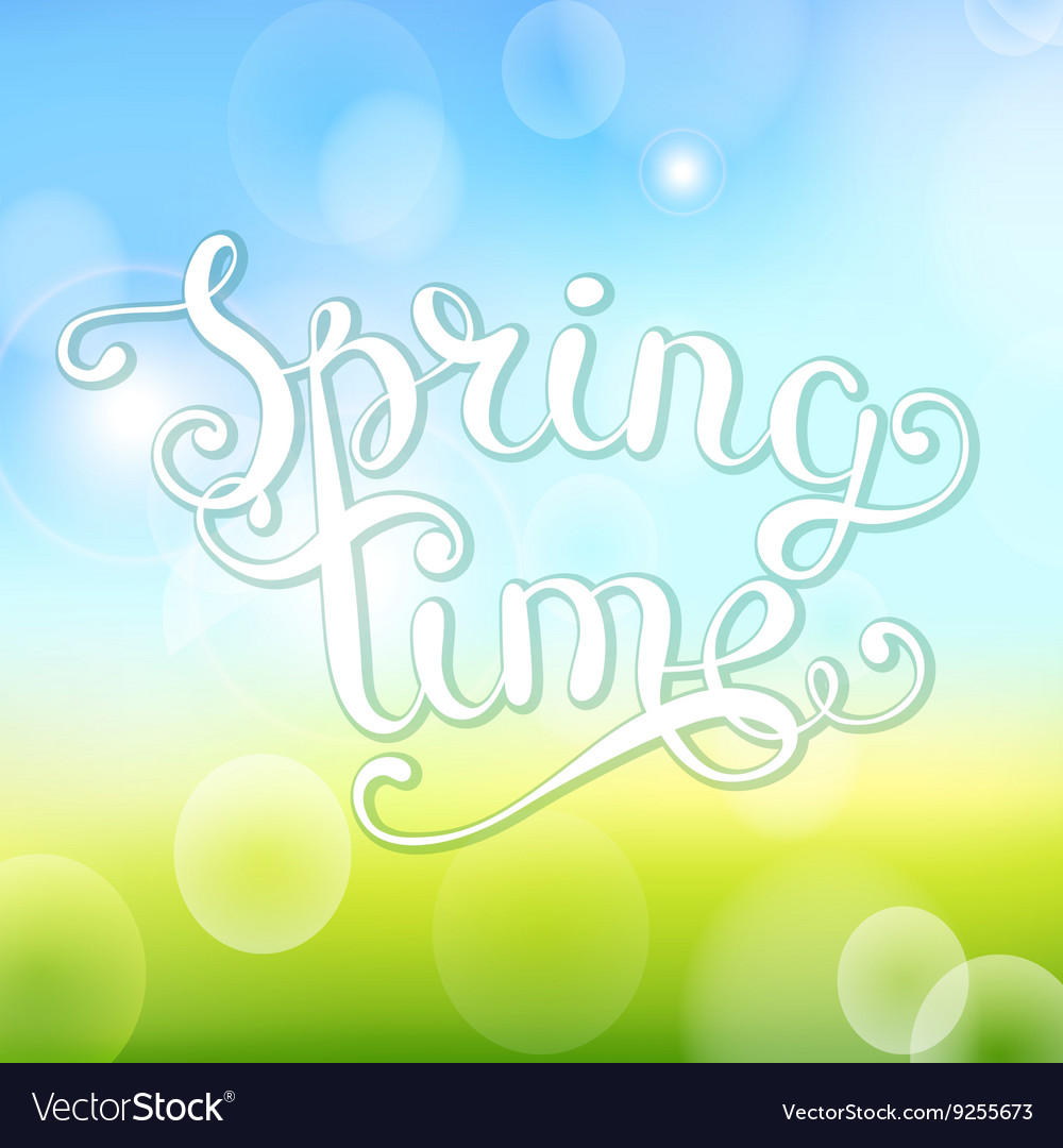 Spring time on bokeh background