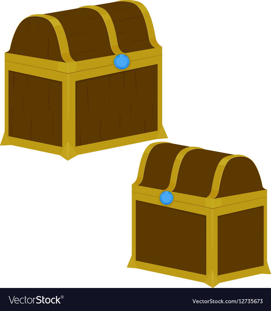 treasure chest on white background royalty free vector image