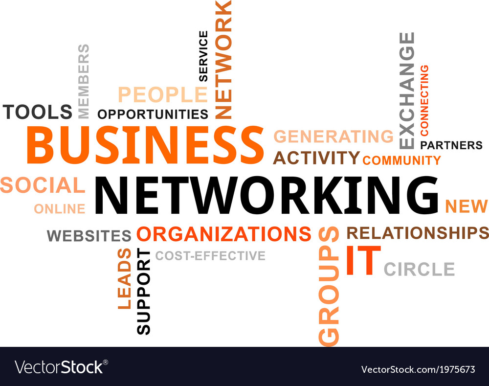 Word Cloud Business Networking Royalty Free Vector Image