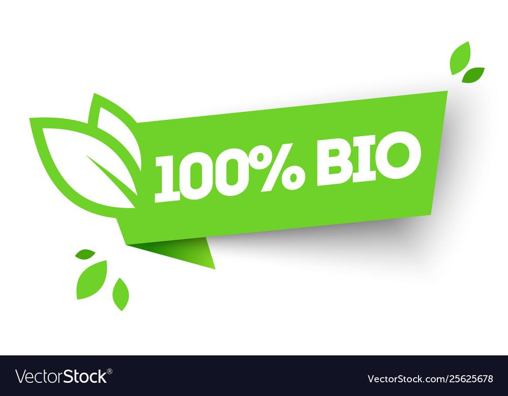 100 organic bio product label