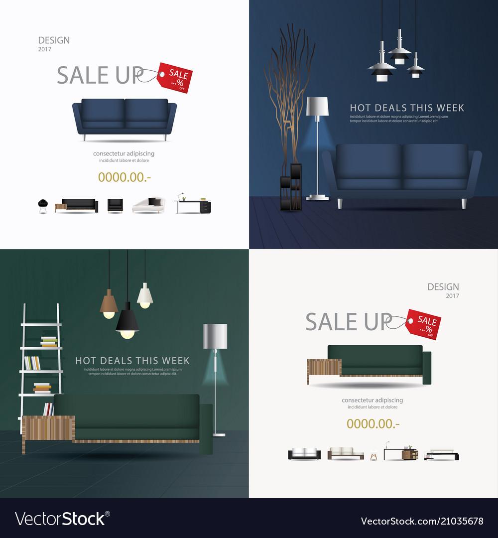 2 Banner Furniture Sale Design Template Ill