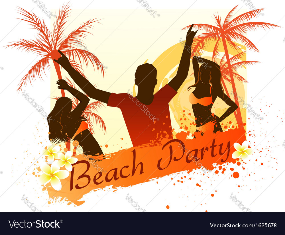 beach party background with people royalty free vector image