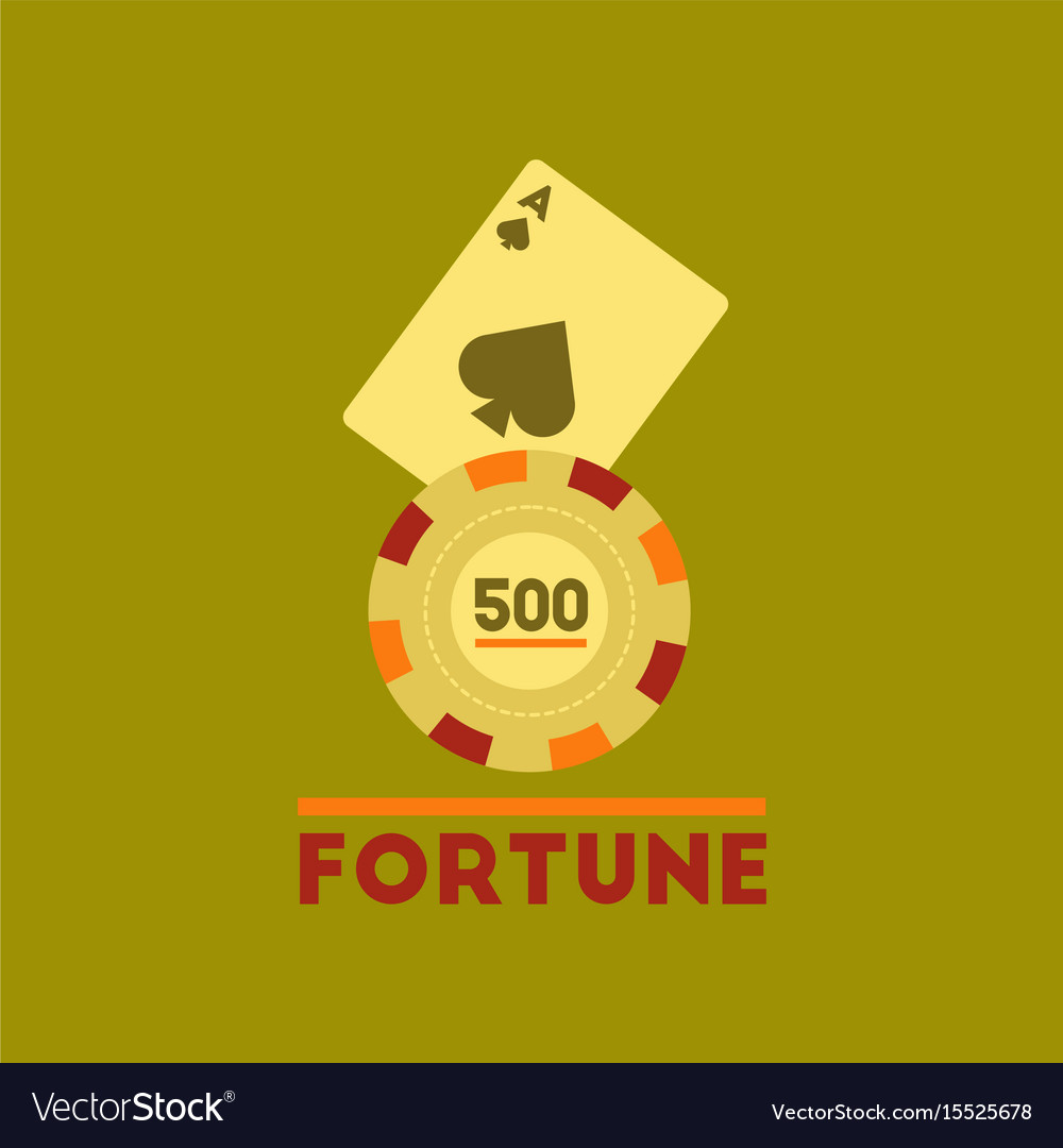 Flat icon on stylish background fortune chip card vector image