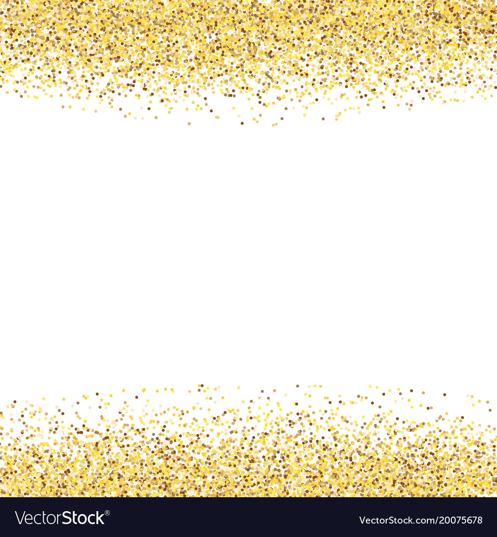 Glitter Gold: Golden Dust Gold Glitter On White Background Vector Image