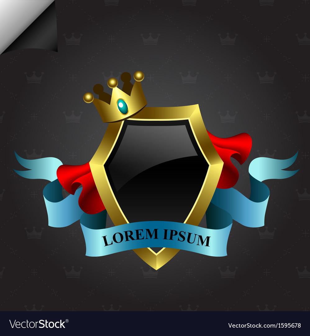 Golden shield design