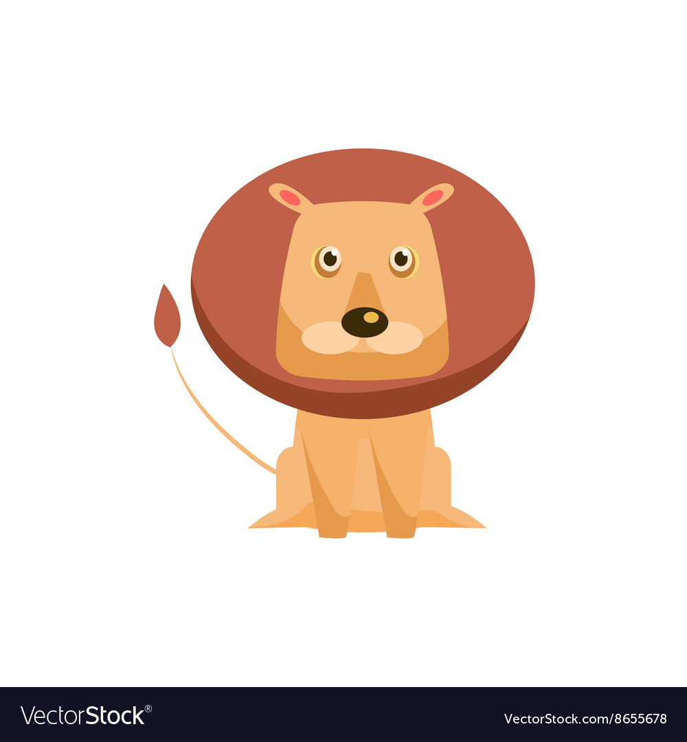 Lion Funny vector image