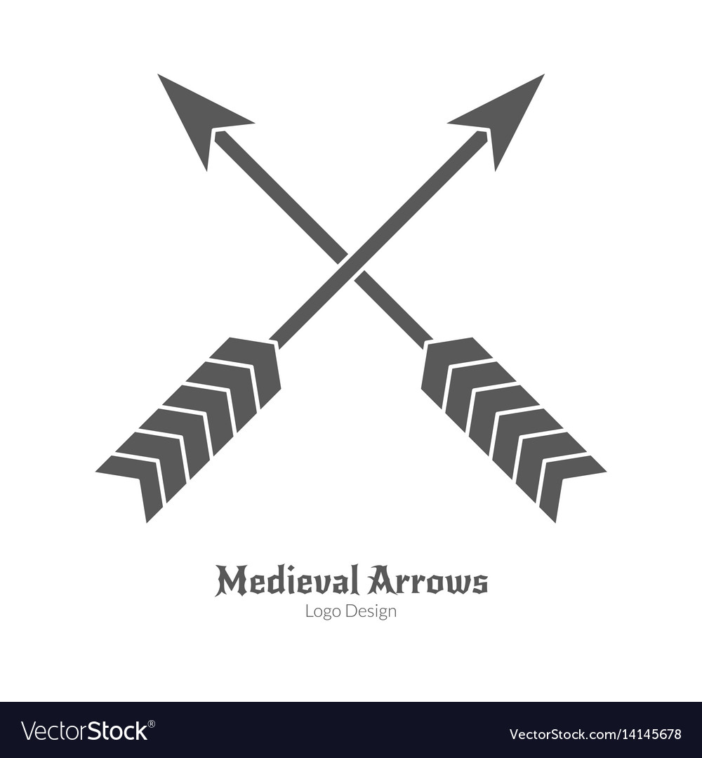 Medieval logo emblem template black simple style vector image