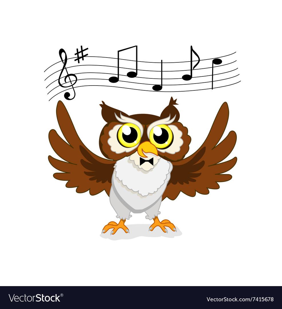 Картинки с нотами и соловьем поет сова