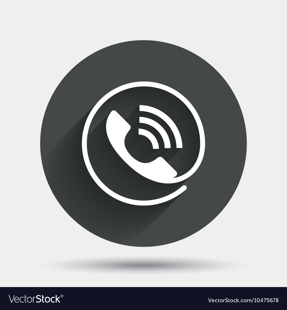 Phone sign icon Call support symbol vector image on VectorStock