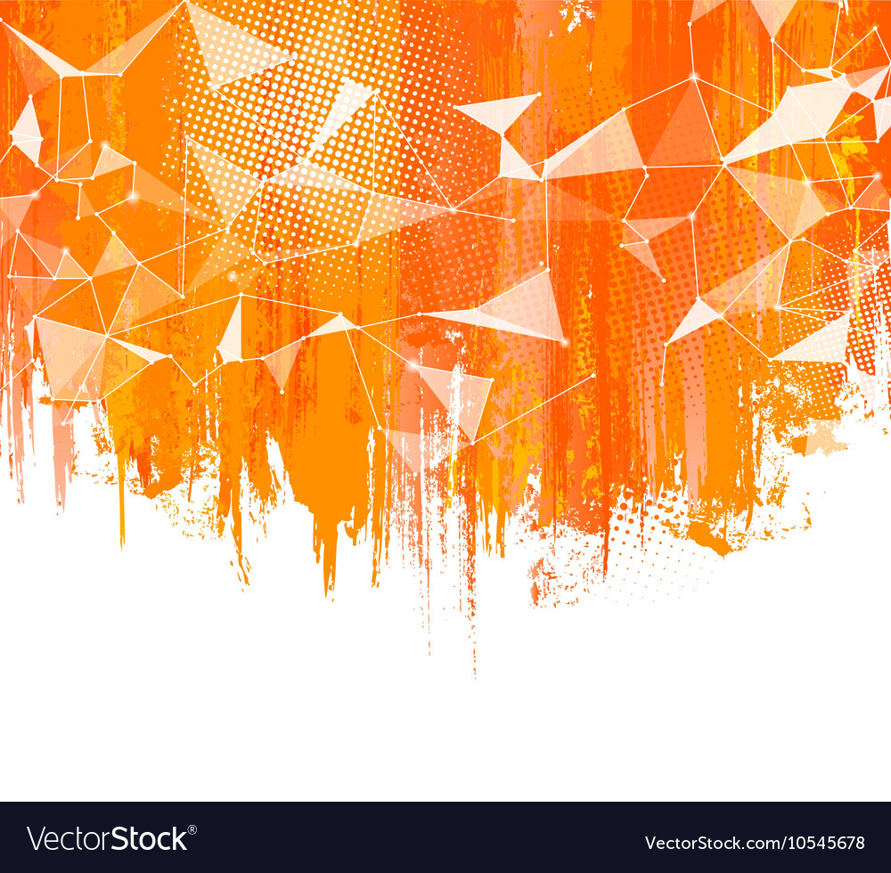 Splashes Orange Background Creative abstract vector image