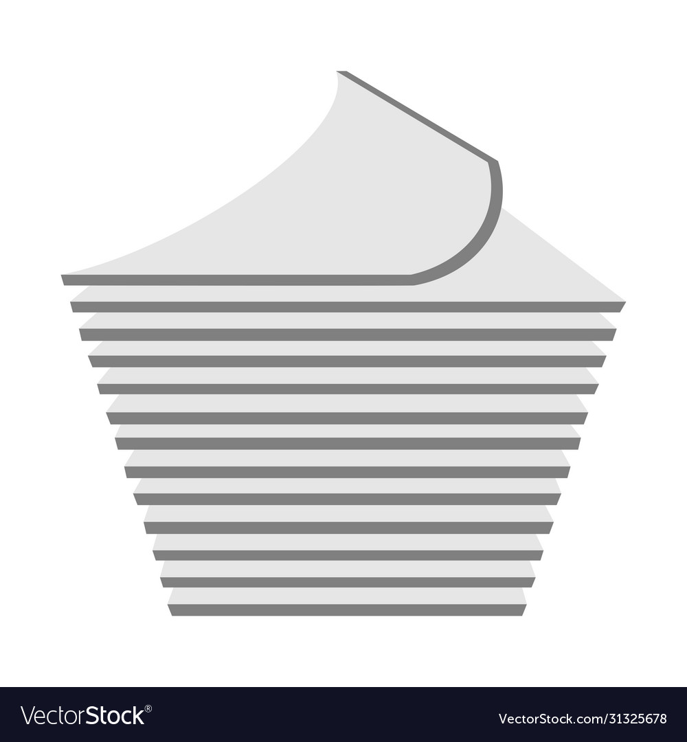 Stack paper line icon linear style sign
