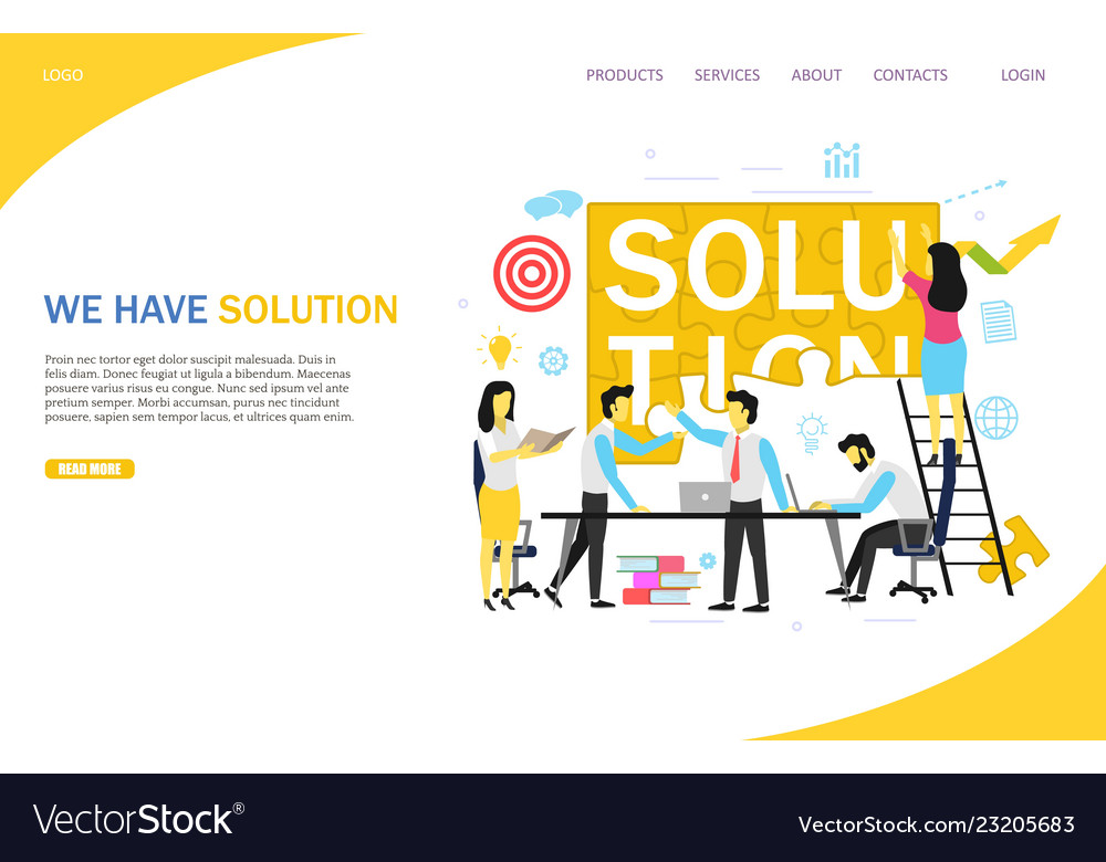 Business solution landing page website