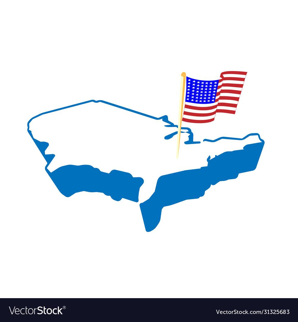 Creative abstract usa map and flag