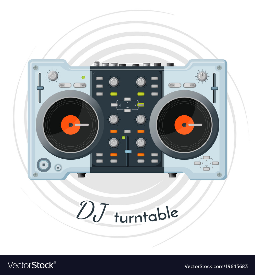 Dj turntable with lot of functions for music tune
