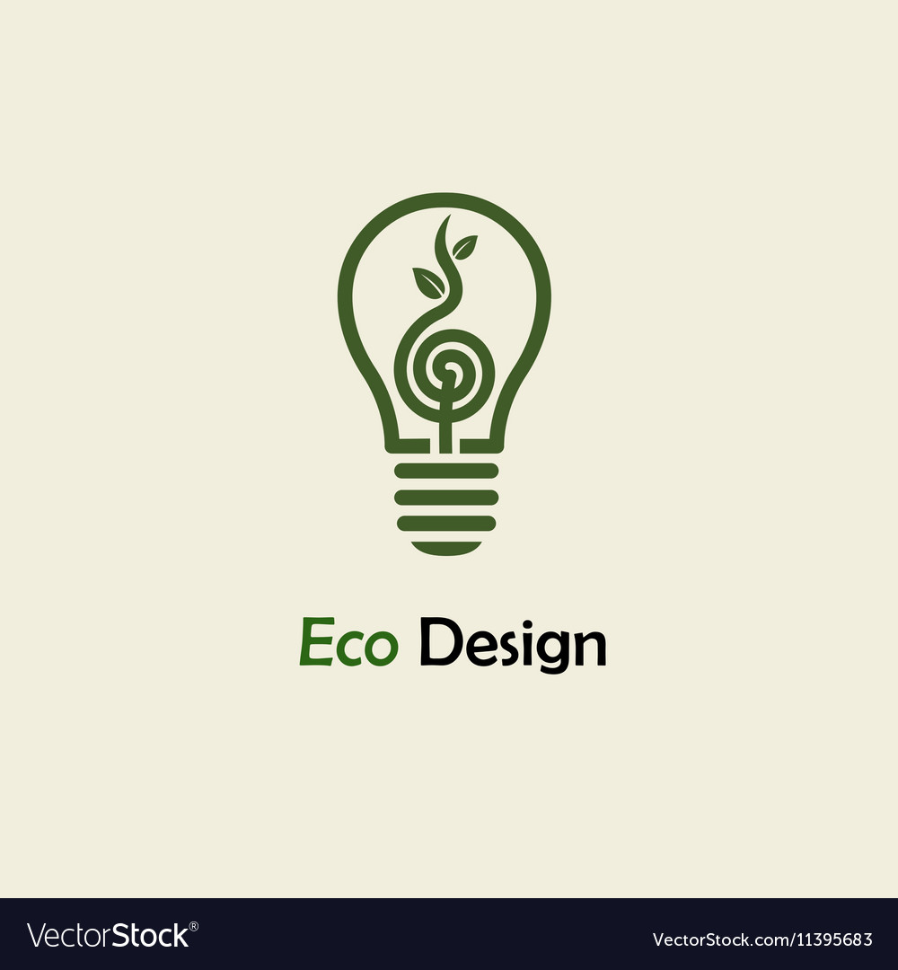 Eco Energy Symbolic sprout plant spiral and