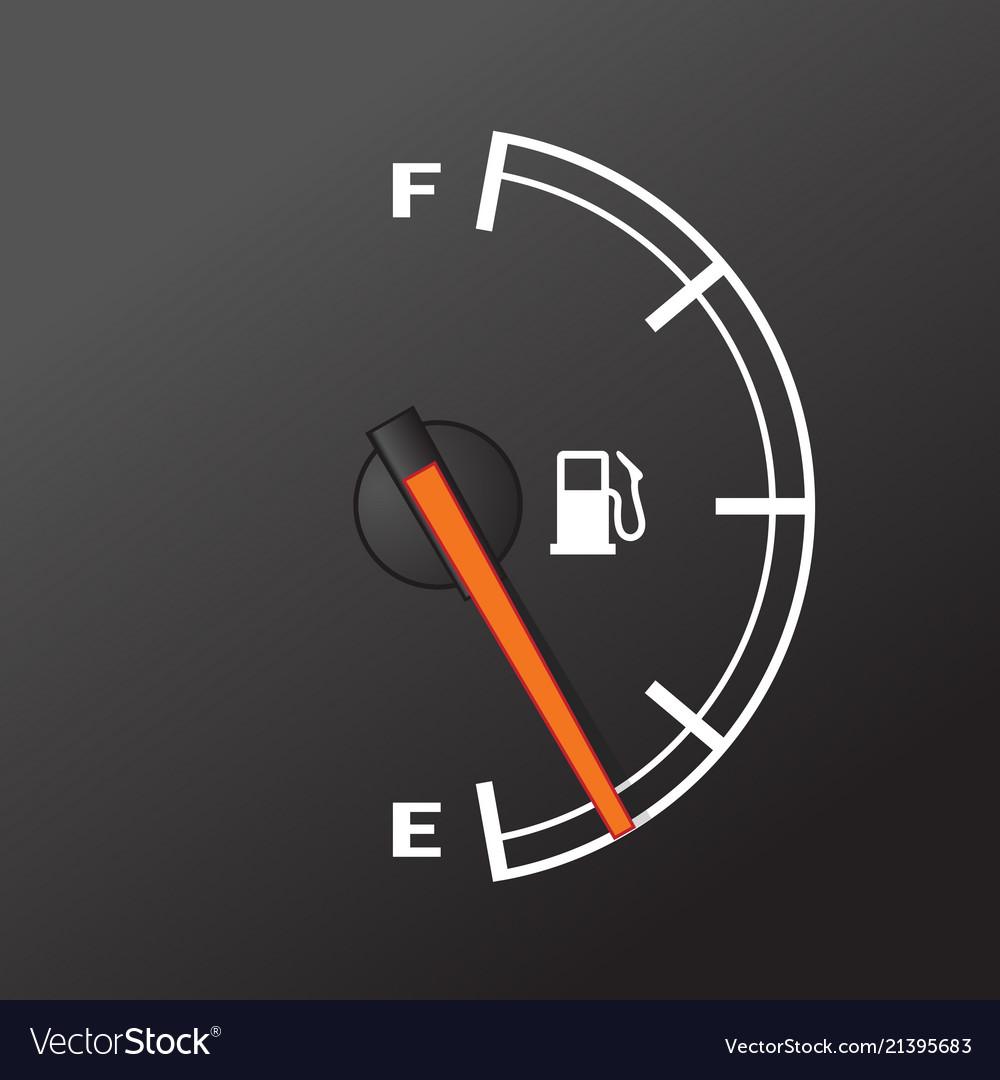 Fuel Gauge Car Dashboard Device Of Gasoline Vector Image Diagram