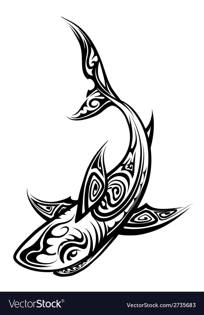 Shark Polynesian Tattoo