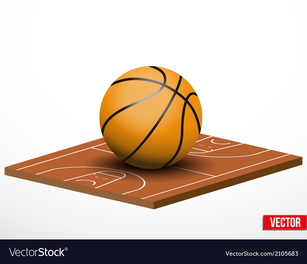 Symbol of a basketball game and field