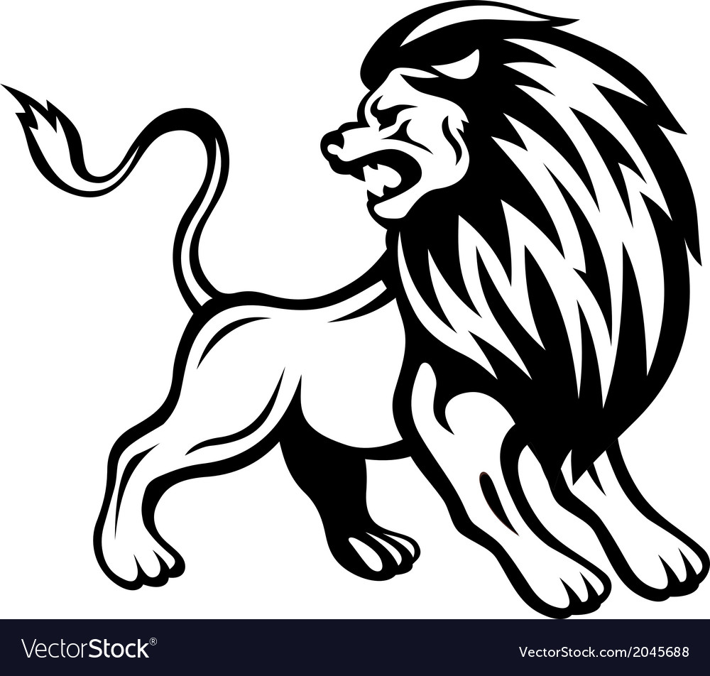 angry lion royalty free vector image vectorstock rh vectorstock com lion vector drawing lion vector logo