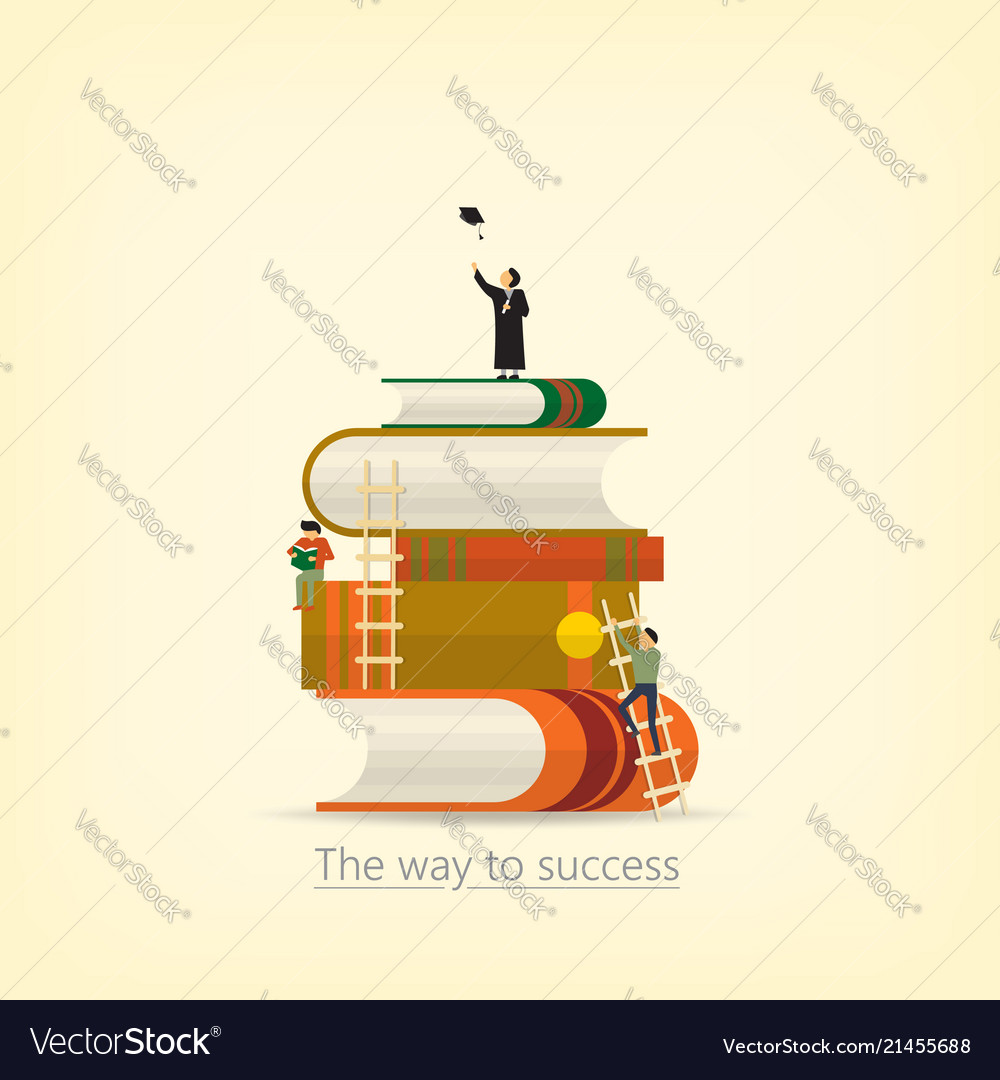 Back to school book concept the way to success