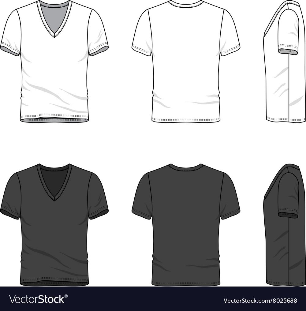 Blank V Neck T Shirt Vector Image